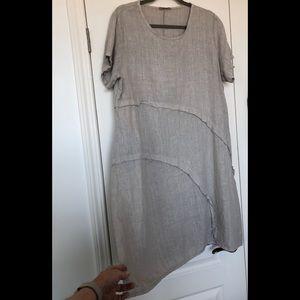 Italian 100% Linen Summer Dress NWOT
